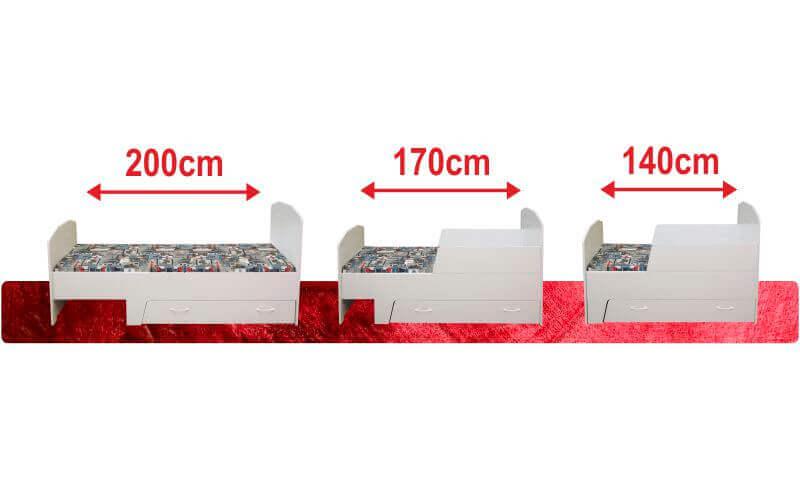pinokio detska postel rozklad